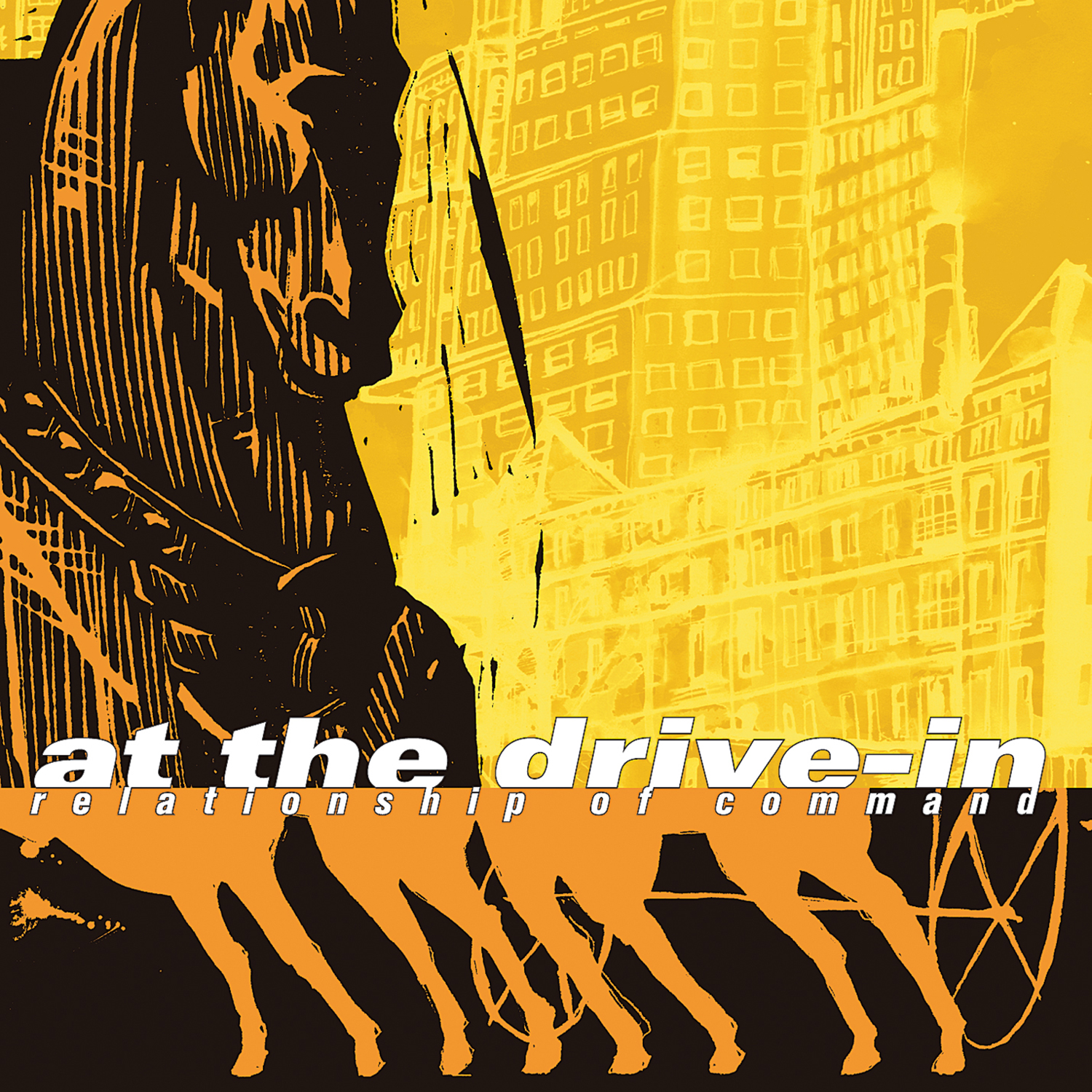 at the drive in relationship of command vinyl wallcovering