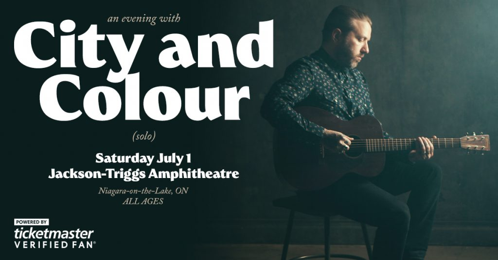 City and Colour announces Canada Day solo performance at